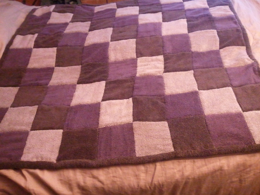 Lap quilt made from towels.