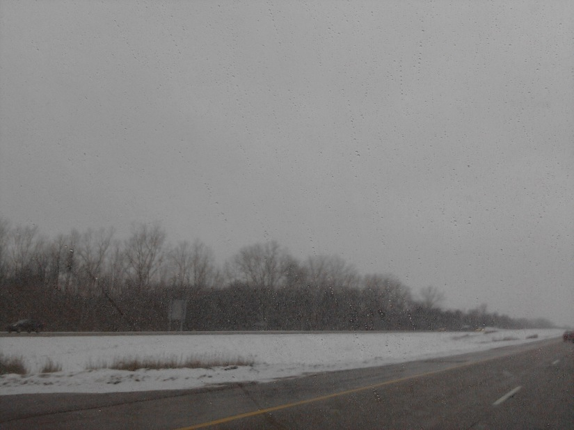 Yes.  This is what driving around Michigan, on a Sunday, looks like at noon.  Cheery!