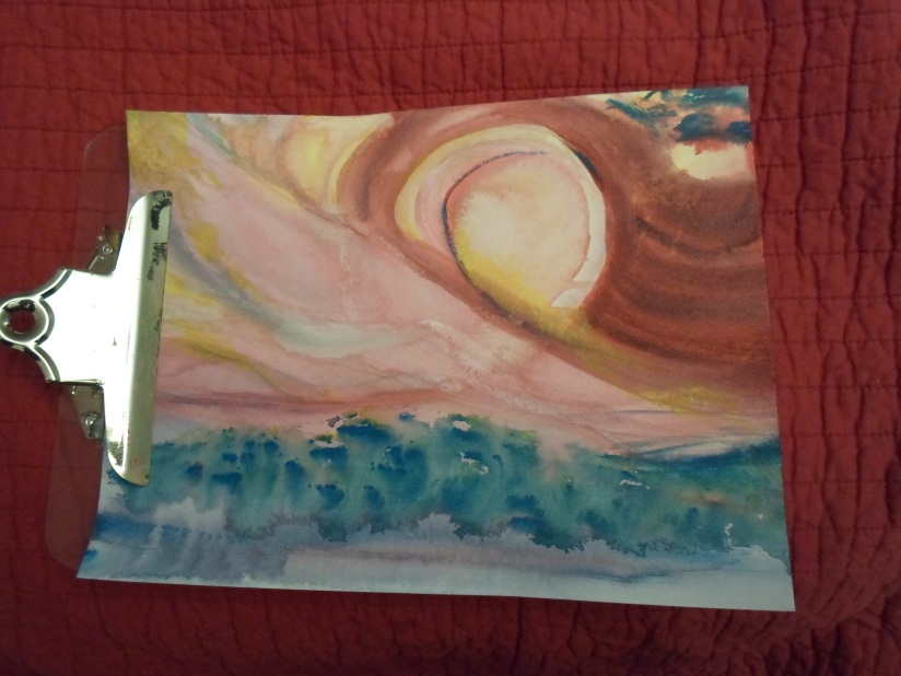 Last Week's Watercolor Painting.  Abstract painting is fun!
