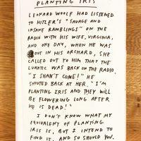 Leonard Woolf & Planting Iris