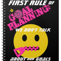 First Rule of Planning Goals: We Don't Talk About Our Goals  #Productivity #Goals